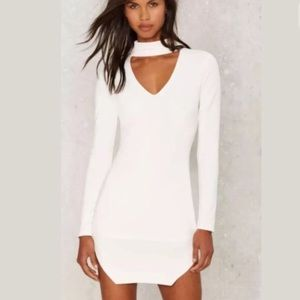 Dance & Marvel White Dress Nasty Gal Small
